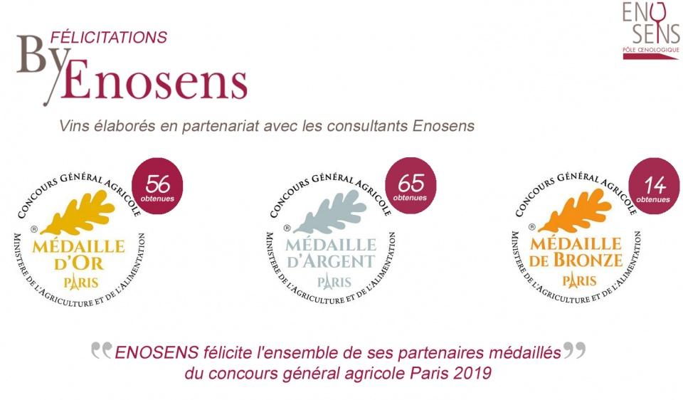 médailles CGA2019 partenaires Enosens